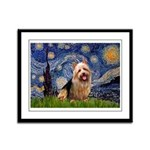 Starry-AussieTerrier Framed Panel Print