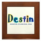 Destin Tropical Type -  Framed Tile