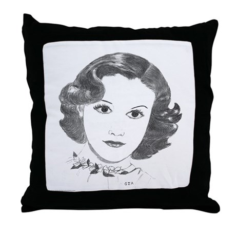 1930s Portrait Throw Pillow