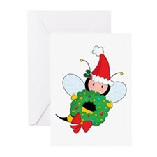 Bee Christmas Greeting Cards (Pk of 20)