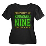 Kubasaki Nine Women's Plus Size Scoop Neck Dark T-