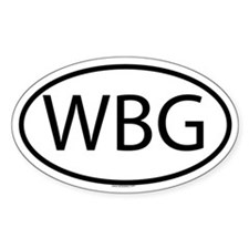 WBG Oval Decal