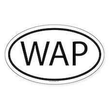 WAP Oval Decal
