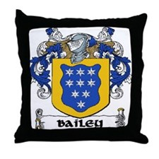 Bailey Coat of Arms Throw Pillow