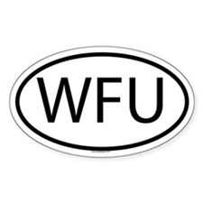 WFU Oval Decal