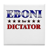 EBONI for dictator Tile Coaster