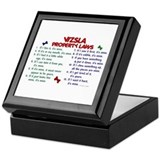 Vizsla Property Laws 2 Keepsake Box