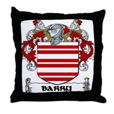 Barry Coat of Arms Throw Pillow