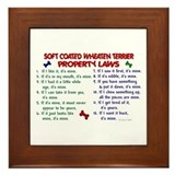 Soft Coated Wheaten Terrier Property Laws 2 Framed