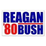 """Reagan/Bush '80"" Decal"