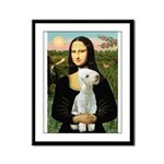 Mona / Bedlington(T) Framed Panel Print