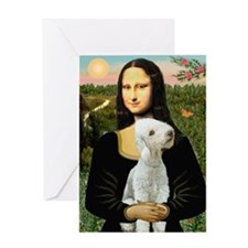 Mona / Bedlington(T) Greeting Card