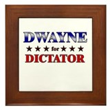 DWAYNE for dictator Framed Tile