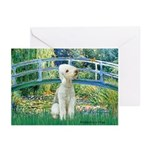 Bridge / Bedlington T Greeting Cards (Pk of 10)