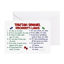 Tibetan Spaniel Property Laws 2 Greeting Card
