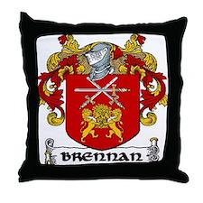 Brennan Coat of Arms Throw Pillow