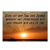 Psalm 118:24 German Postcards (Package of 8)