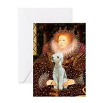Queen / Bedlington T Greeting Card