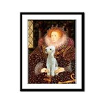 Queen / Bedlington T Framed Panel Print