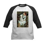 Ophelia / Bedlington T Kids Baseball Jersey
