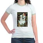 Ophelia / Bedlington T Jr. Ringer T-Shirt