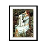 Ophelia / Bedlington T Framed Panel Print