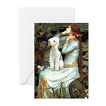 Ophelia / Bedlington T Greeting Cards (Pk of 10)