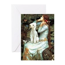 Ophelia / Bedlington T Greeting Cards (Pk of 10)
