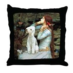 Ophelia / Bedlington T Throw Pillow