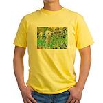 Irises /Bedlington T Yellow T-Shirt