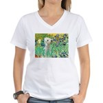 Irises /Bedlington T Women's V-Neck T-Shirt