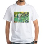 Irises /Bedlington T White T-Shirt