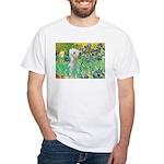Irises /Bedlington T White T-Shirt