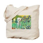 Irises /Bedlington T Tote Bag