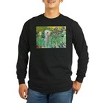 Irises /Bedlington T Long Sleeve Dark T-Shirt