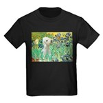 Irises /Bedlington T Kids Dark T-Shirt