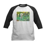 Irises /Bedlington T Kids Baseball Jersey