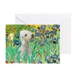 Irises /Bedlington T Greeting Cards (Pk of 10)