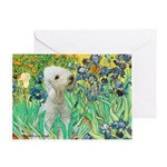 Irises /Bedlington T Greeting Card