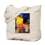 Cafe / Bedlington T Tote Bag