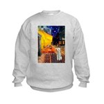 Cafe / Bedlington T Kids Sweatshirt