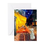 Cafe / Bedlington T Greeting Cards (Pk of 20)