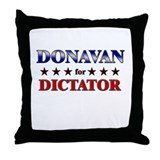 DONAVAN for dictator Throw Pillow