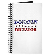 DONAVAN for dictator Journal