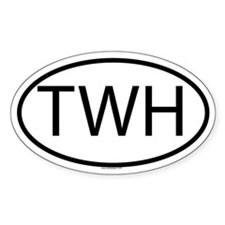 TWH Oval Decal