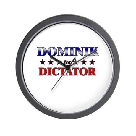 DOMINIK for dictator Wall Clock
