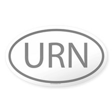 URN Oval Decal
