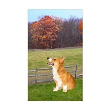Fall Foliage Corgi Rectangle Decal