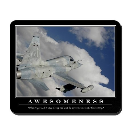 Awesomeness Motivational Mouse Pad 2