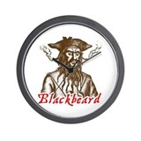 Red Blackbeard Wall Clock